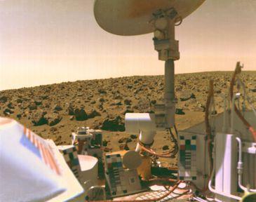Imagem da Planície Utopiana de Marte feita pela Viking 2