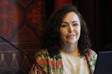 Rio de Janeiro - A escritora Mariza Sorriso, organizadora do VI Encontro de Poetas da Língua Portuguesa, no Real Gabinete Português de Leitura. (Fernando Frazão/Agência Brasil)