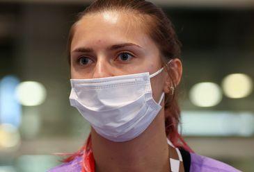 Krystsina Tsimanouskaya no aeroporto em Tóquio - visto humanitário - velocista - Bielorrússia - Belarus - Olimpíada
