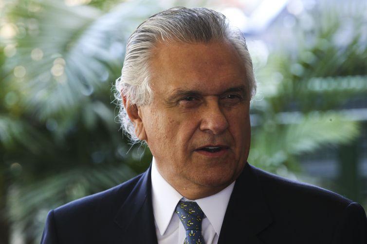 Após encontro com o presidente eleito, Jair Bolsonaro, o governador eleito de Goiás, Ronaldo Caiado, fala com a Imprensa.