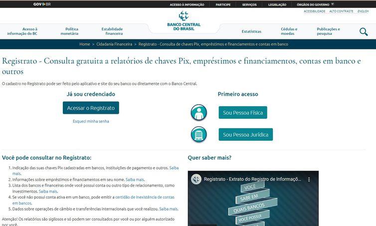 Registrato do Banco Central do Brasil.