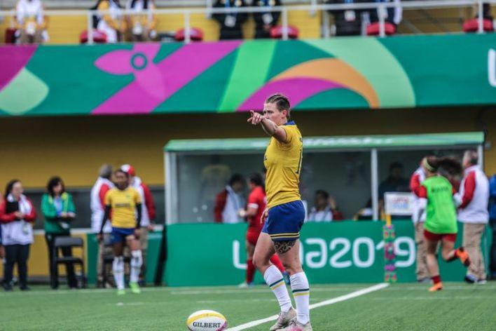 Yaras - Rachel Kochham - Rúgbi feminino estreia nos Jogos Pan-Americanos contra o Peru. Local: Complexo Esportivo Villa María del Triunfo, em Lima, no Peru.