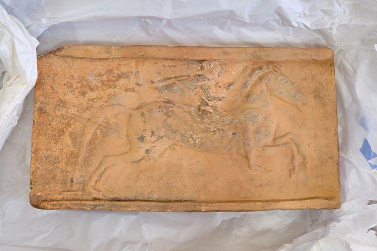 Tijolo arquitetônico, de 550 a.C_Greco-Romana