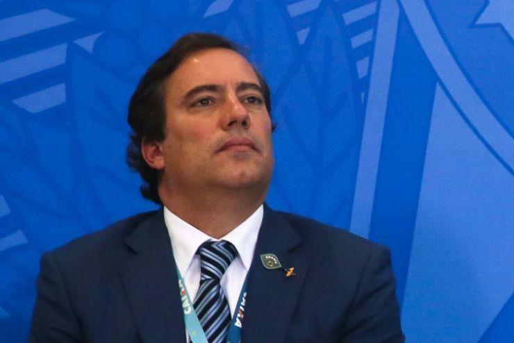 O presidente da Caixa Econômica Federal, Pedro Guimarães, participa do lançamento da nova linha de crédito imobiliário com taxa fixa da Caixa Econômica Federal