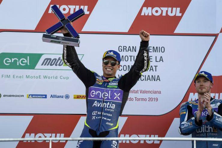 Eric Granado, piloto brasileiro de motovelocidade, nas categorias MotoE e MotoGP