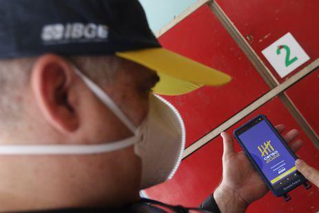 O IBGE (Instituto Brasileiro de Geografia e Estatística) faz primeiro teste preparatório do Censo Demográfico 2022, na Ilha de Paquetá, no Rio de Janeiro.