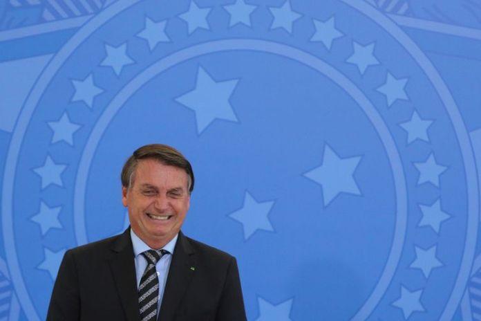 O presidente Jair Bolsonaro, participa do lançamento dos programas CODEX e SUPER.BR e do 8º 8º Revogaço no Palácio do Planalto.