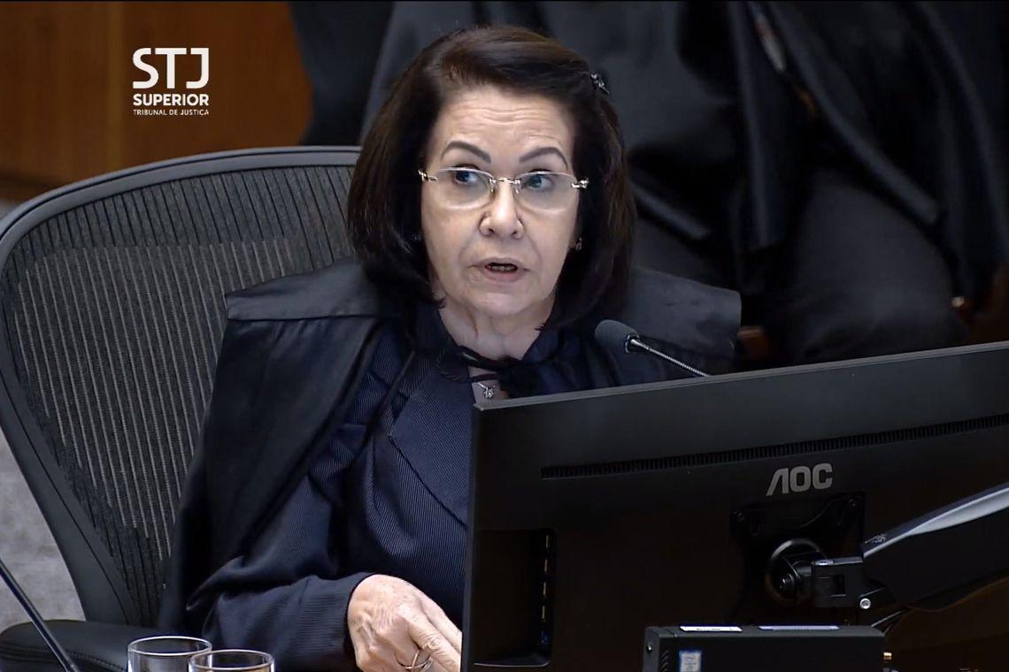 Ministra do Superior Tribunal de Justiça (STJ) Laurita Vaz durante julgamento do habeas corpus protocolado pela defesa do ex-presidente Michel Temer.