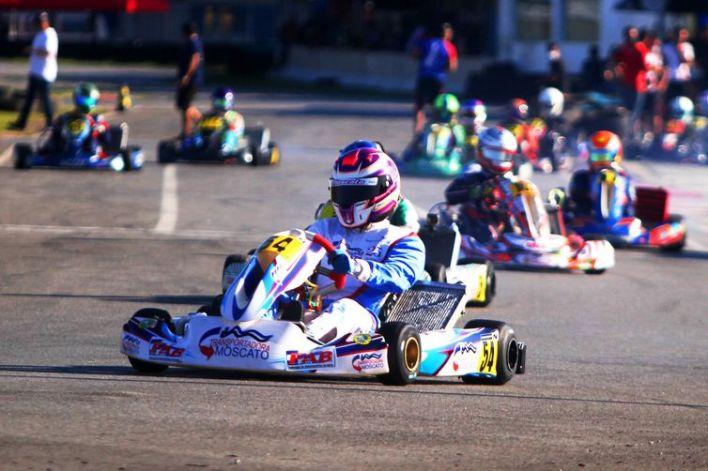 kartista baiano Diogo Moscato, de 16 anos, campeão estadual da categoria em 2019.