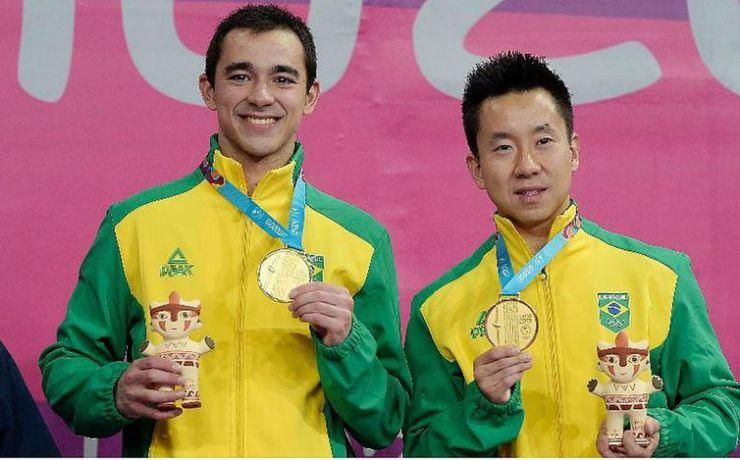 Hugo Calderano e Gustavo Tsuboi ficam com o ouro do tênis de mesa dos Jogos Pan-Americanos (Alexandre Loureiro/COB