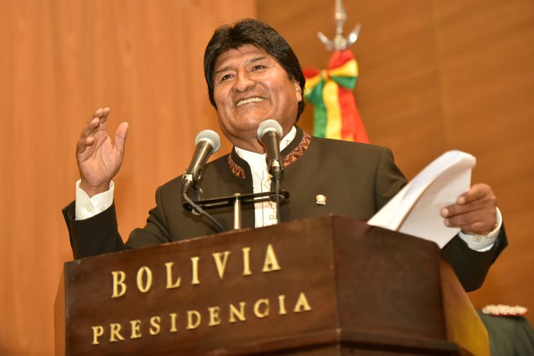 O presidente da Bolívia, Evo Morales