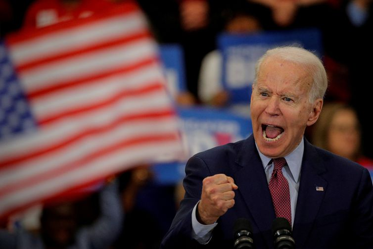 FILE PHOTO: Democratic U.S. presidential candidate and former Vice President Joe Biden speaks during a campaign stop in Detroit, Michigan