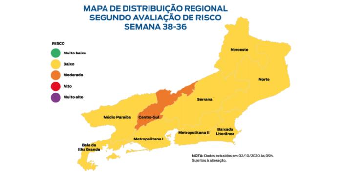 Mapa de Risco da Secretaria de Estado de Saúde do Rio de Janeiro. 7ª edição. 2/10/2020