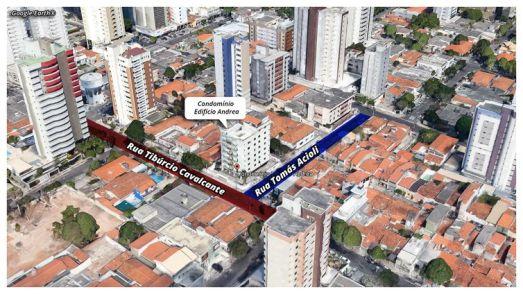 Localização do edifício que desabou em Fortaleza (CE)