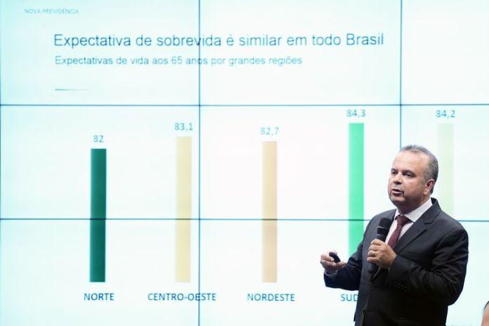 O secretário Especial de Previdência e Trabalho do Ministério da Economia, Rogério Marinho, participa de audiência pública na Comissão Especial da Câmara que analisa a proposta de emenda à Constituição da reforma da Previdência.