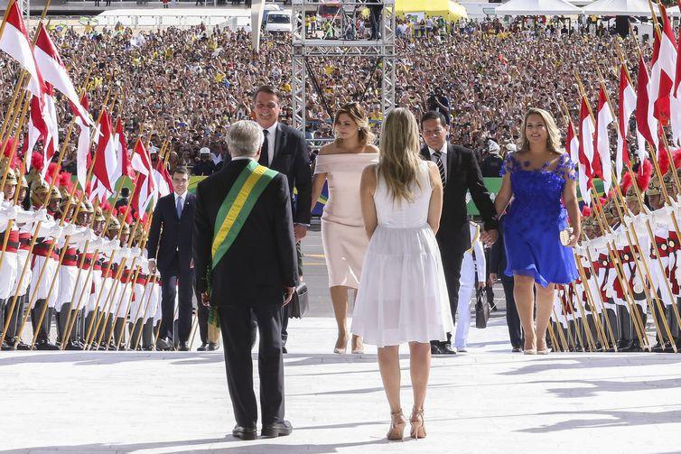 Michel Temer Marcela Temer recebem o presidente Jair Bolsonaro e o vice presidente, Hamilton Mourão no Palácio do Planalto, para cerimônia de transmissão da Faixa Presidencial.