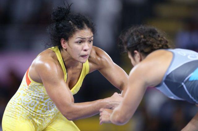 Aline Silva (Brasil), medalha de prata na categoria até 76kg. Wrestling - Jogos Pan-Americanos Lima 2019. Local: Coliseu Miguel Grau, em Callao, Lima (Peru). Data: 09.08.2019.