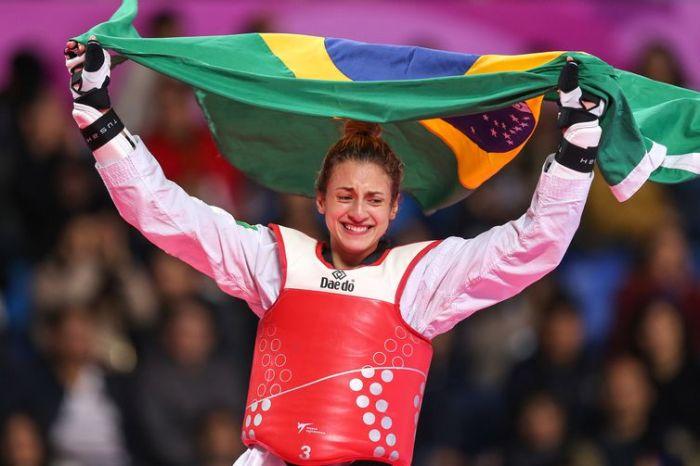 Milena Titoneli (Brasil), medalha de ouro na categoria -67kg do taekwondo nos Jogos Pan-Americanos Lima 2019. Local: Callao, em Lima, Peru. Data: 29.07.2019.