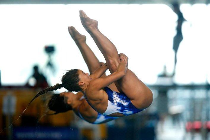 Luana Lira e Tammy Galera garantem a medalha de ouro na última prova de Saltos Ornamentais do Campeonato Sul-Americano de Esportes Aquáticos - Buenos Aires