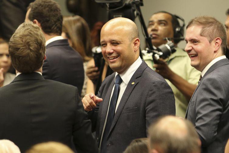 O líder do governo na Câmara, Major Vitor Hugo, na Comissão Especial da reforma da Previdência, durante votação de destaques.