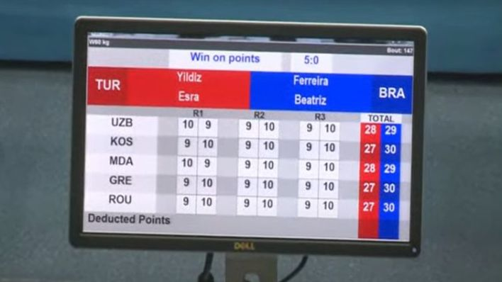 placar - boxe - Torneio de Strandja - Bia Ferreira