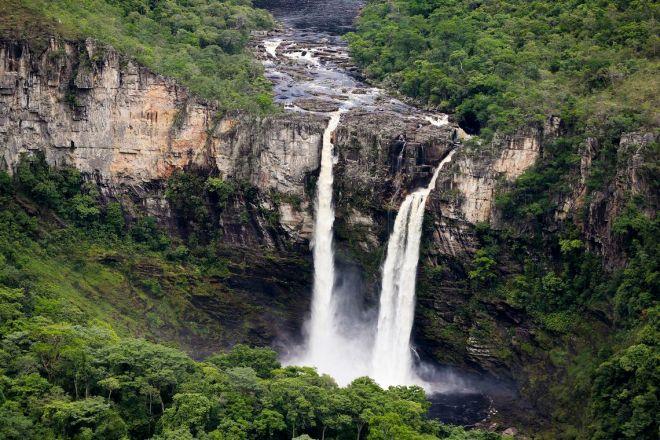 Alto Paraíso de Goiás (GO) - Vista dos Saltos do Rio Preto, a partir do Mirante da Janela, área que faz parte da proposta de ampliação do Parque Nacional da Chapada dos Veadeiros (Marcelo Camargo/Agência Brasil)