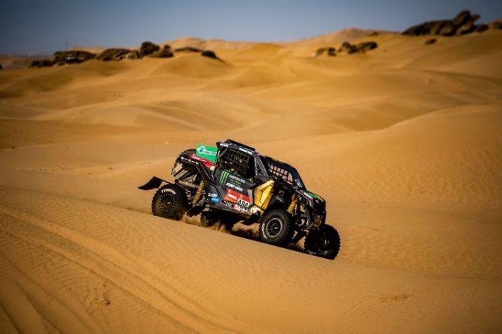 UTV da dupla Reinaldo Varela e o navegador Maykel Justo que venceram última das 12 etapas do rali Dakar 2021