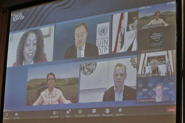 Ministra da Agricultura Tereza Cristina participa do Fórum Econômico Mundial