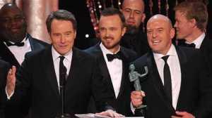 "Walter ""Heisenberg"" White, Jesse Pinkman e Hank. Personagens do elenco vencedor de Breaking Bad"