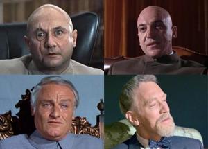 As encarnações do vilão Blofeld!