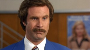 As caretas de Will Ferrell como Ron Burgundy