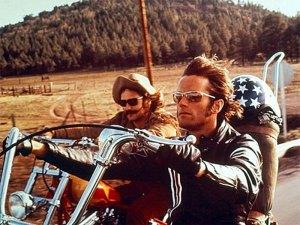 Peter Fonda e Dennis Hopper (ator e diretor) em Sem Destino