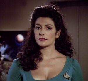 Marina Sirtis, a Conselheira Deanna Troi!