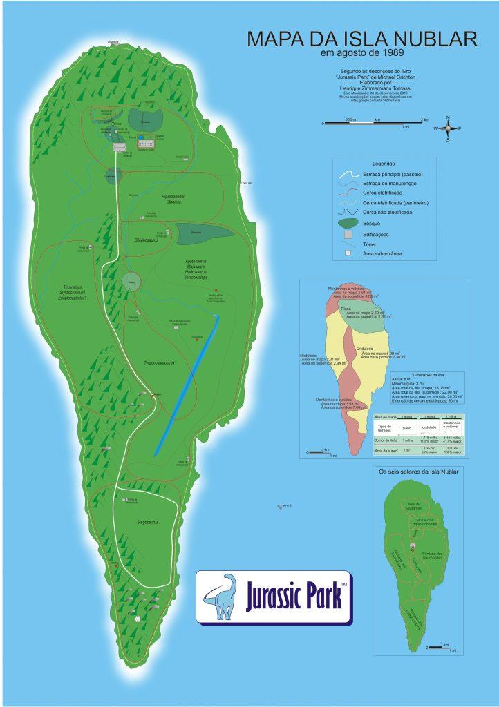 Mapa da Isla Nublar