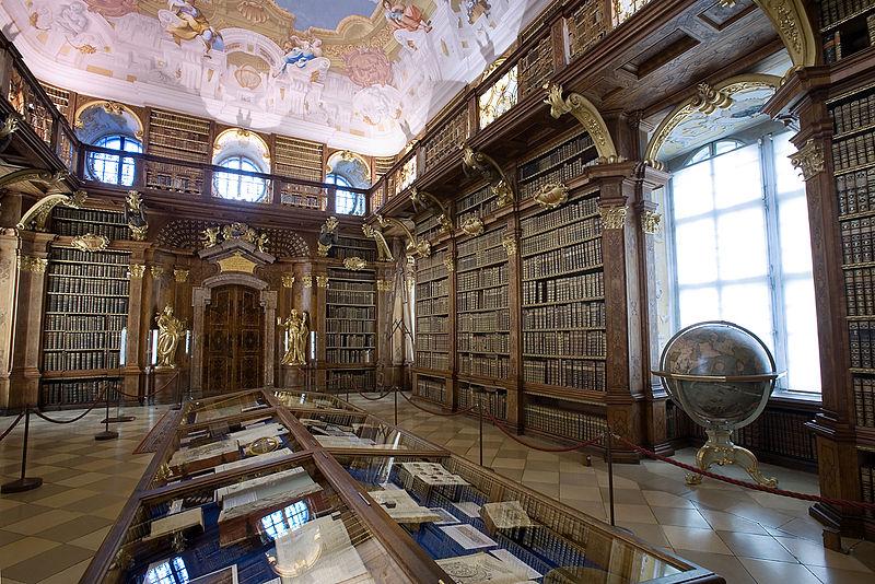Bilioteca da Abadia de Melk, na Austria!