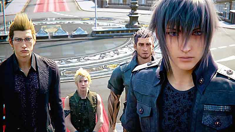 Los cuatro amigos de Final Fantasy XV!