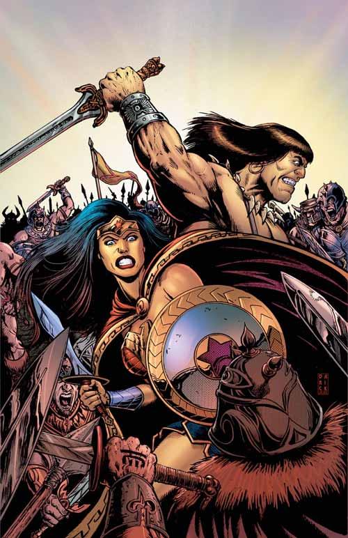 Crossover entre Conan e Mulher-Maravilha