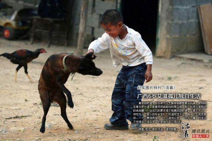 Garoto chinês de 6 anos banido pela sociedade 10