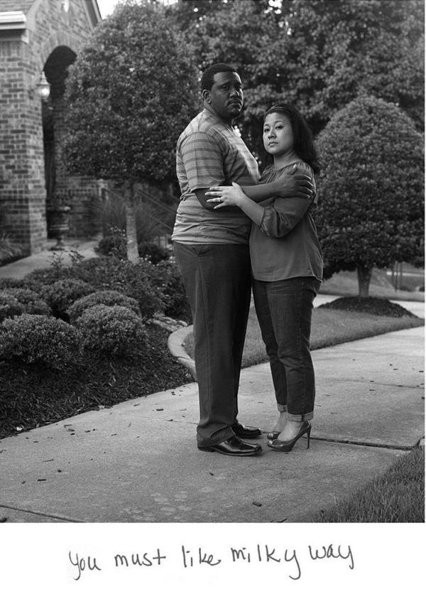 15 retratos de casais inter-raciais com os comentários ...