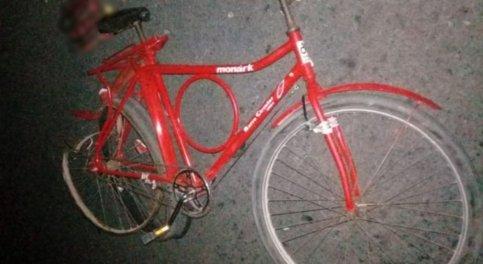 Idoso estava em bicicleta quando foi atropelado