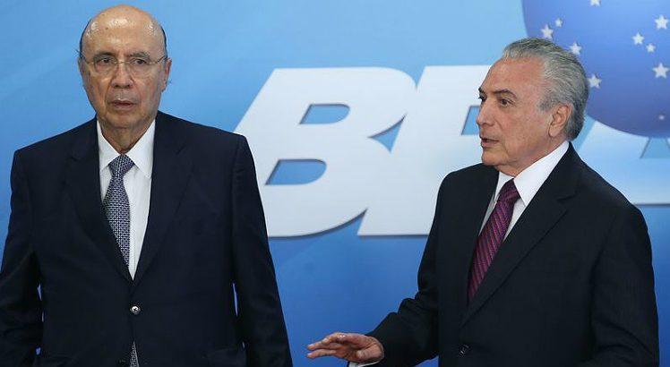 O ministro da Fazenda, Henrique Meirelles, e Temer (Foto: Antônio Cruz/ABr)