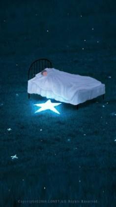 Minha cama na grama