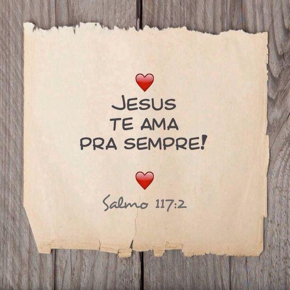 Jesus te ama Mensagens.
