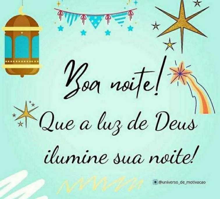 Boa noite com a luz de Deus