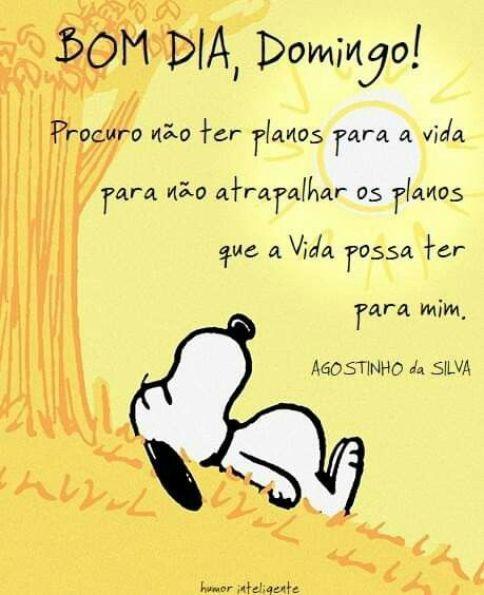 Bom Dia Domingo Snoopy