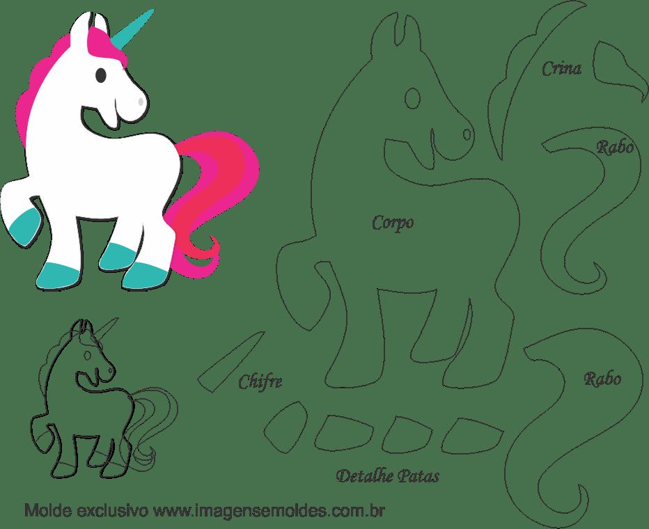 Moldes Para Fomi Gratis Unicornio