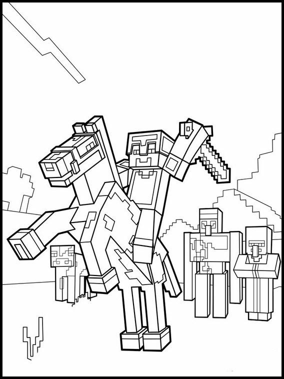 As crianças que gostam de jogar minecraft, com certeza irão gostar de imagens para imprimir e colorir com os personagens e objetos do jogo. Desenhos para Colorir e Imprimir do Minecraft - Minecraft