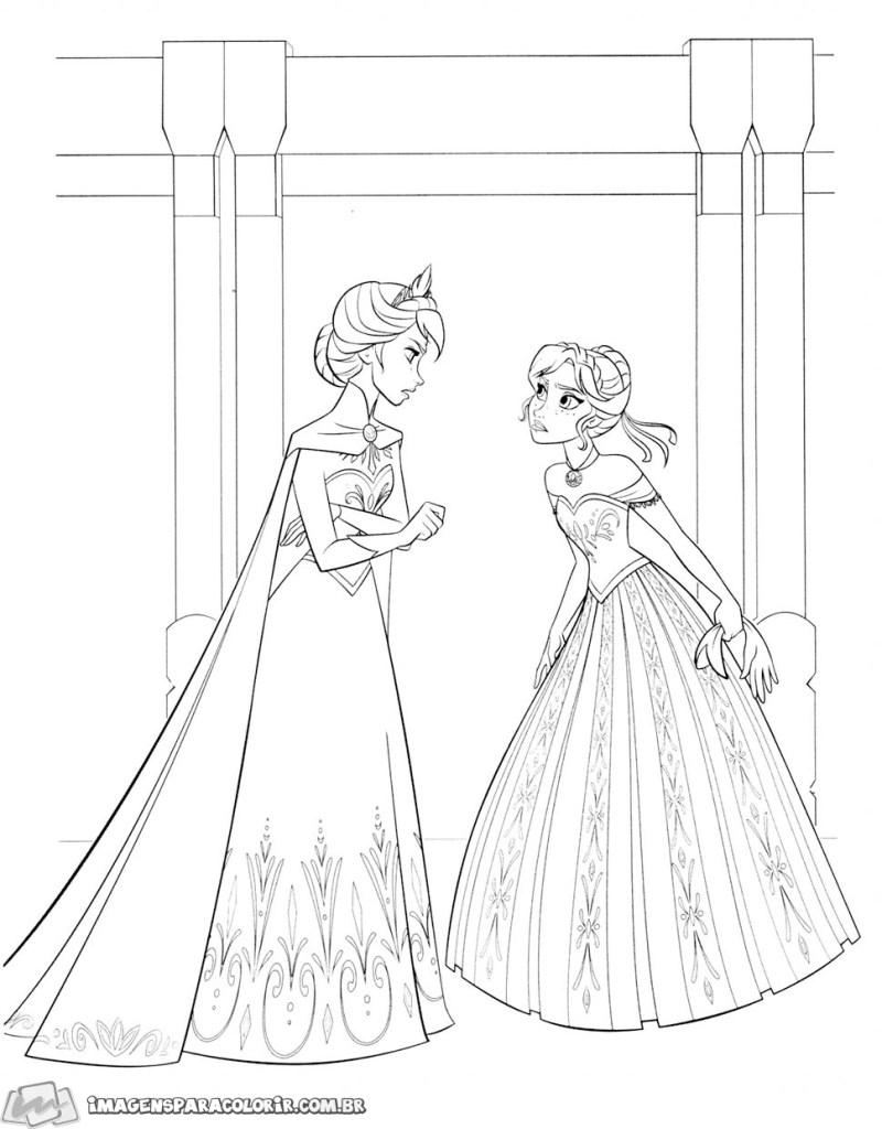 Ana e Elsa conversando