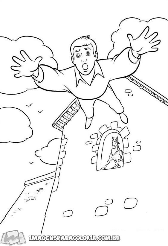 Principe Encantado caindo da janela