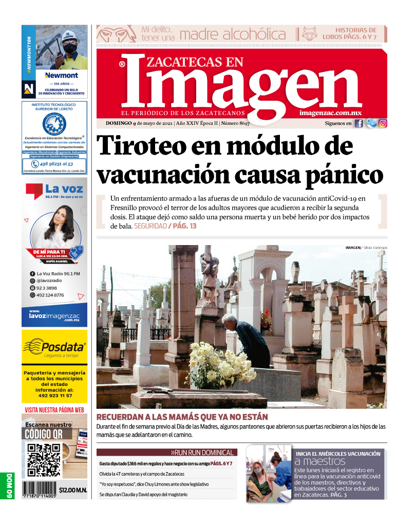 Imagen Zacatecas edición del 09 de mayo de 2021